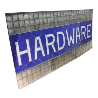 "1900's Stained Glass ""Hardware"" Sign"
