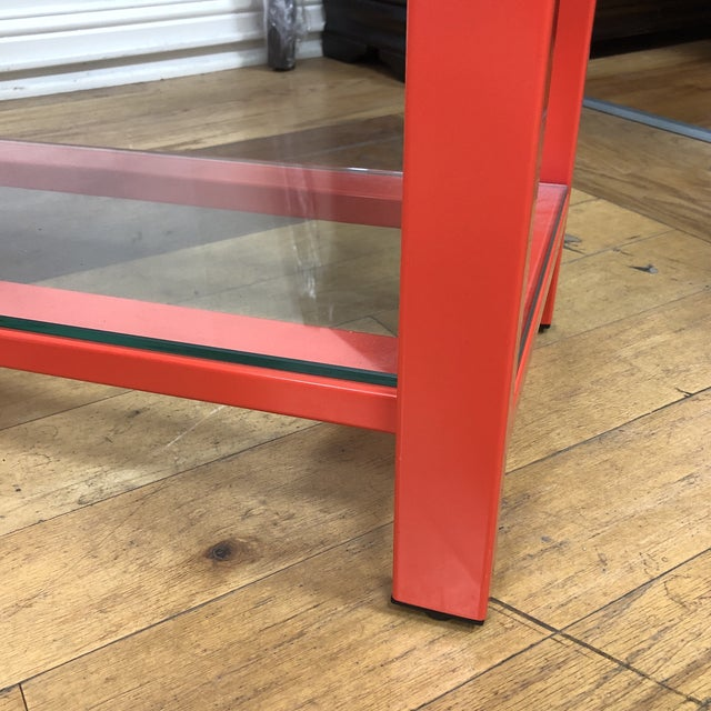 Pair of Crate & Barrel Pilsen Paprika Bookcases For Sale In San Francisco - Image 6 of 10
