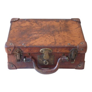 Small Leather Suitcase For Sale