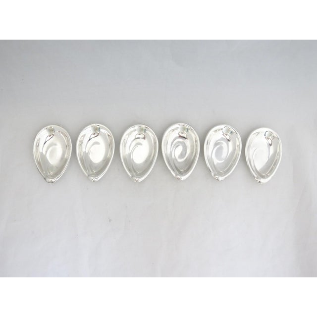6 Rare Reed & Barton Sterling Art Nouveau Sculptural Nut/Butter Dishes - they almost look like half oysters. Fabulous find...