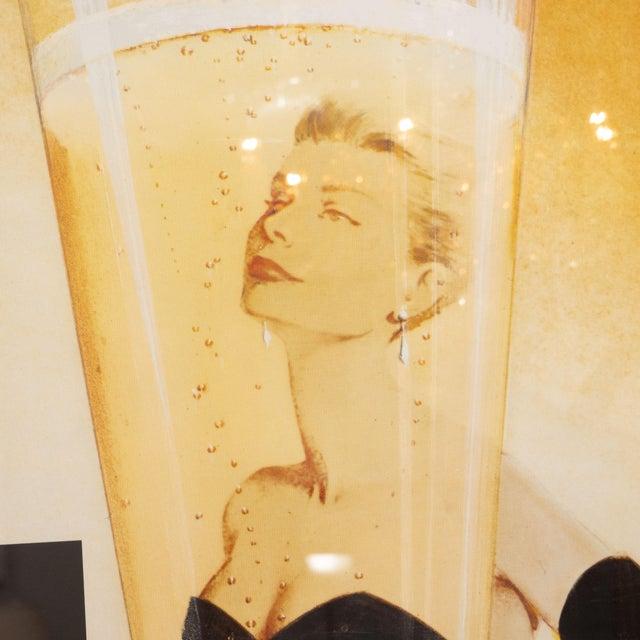"1980s Oversized ""I' instant Taittinger"" Champagne Poster For Sale - Image 5 of 8"