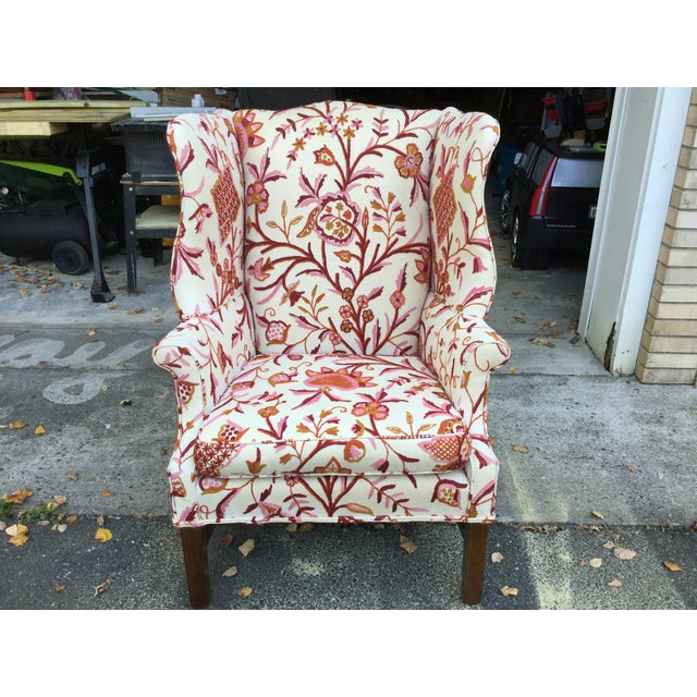Vintage English Armchair W/Crewel For Sale - Image 10 of 10