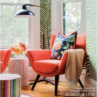 Schumacher Zebra Palm Pattern Animal Floral Wallpaper in Jungle Green - 2-Roll Set (9 Yards) Preview
