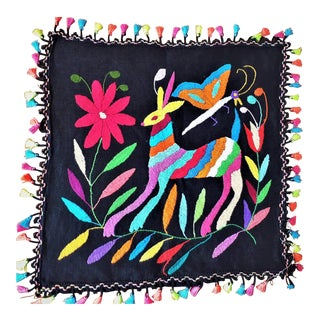 Embroidered Otomi Pillow Sham