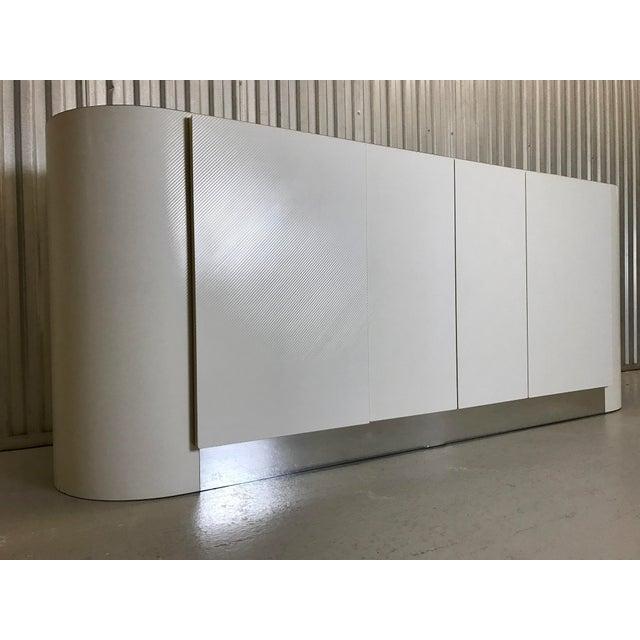 Asian Karl Springer White Credenza For Sale - Image 3 of 11