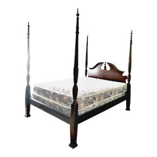 Queen Cherrywood Poster Bed For Sale