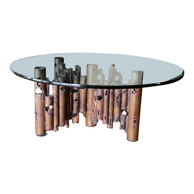 1950s Mid-Century Modern Brutalist Masciarelli for Regent Glass Coffee Table For Sale