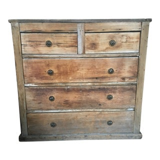 Rustic Wooden Chest of Drawers For Sale