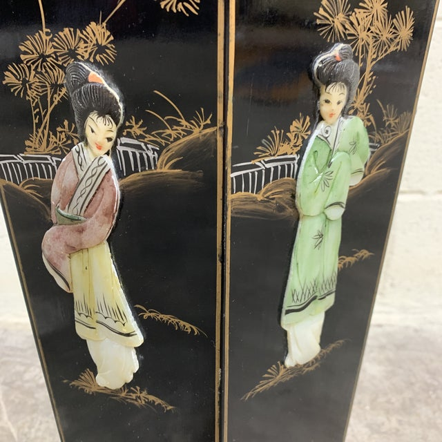 1970s Hand Painted Chinese Soapstone Umbrella Stand For Sale - Image 5 of 13