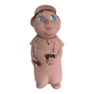 MCM Clay Cookie Jar Sculpture by Walter Keane