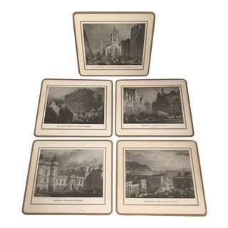 Scenic England Coasters/Placemats - Set of 5 For Sale