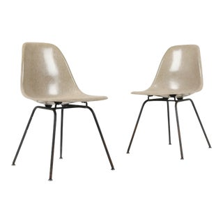 1950s Vintage Herman Miller Eames Dsx Chairs - Pair For Sale