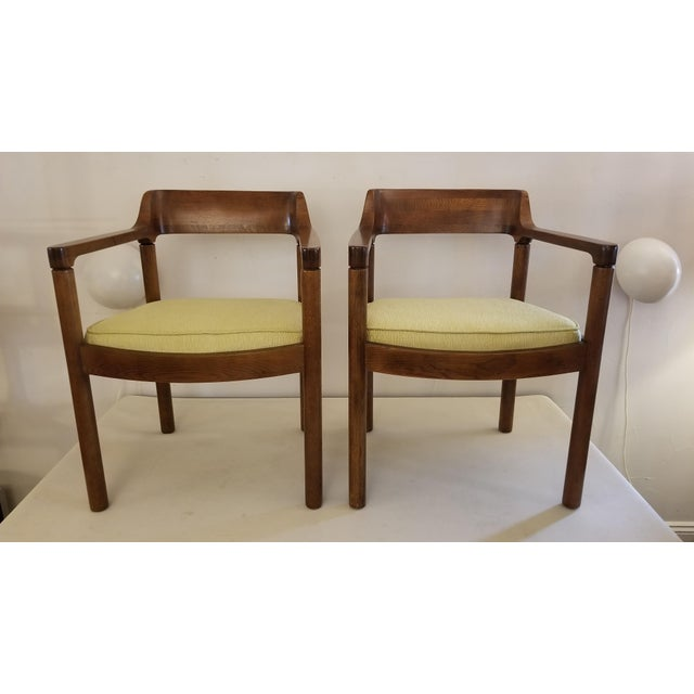 1960s Walnut Zographos Ireland Chairs - a Pair For Sale - Image 10 of 10