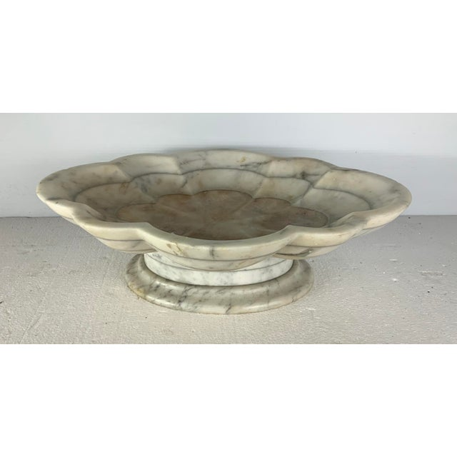 Italian Vintage Italian Carved Marble Tazza Centerpiece For Sale - Image 3 of 5