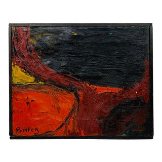 Pomper 1951 Abstract Painting For Sale