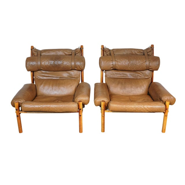 Arne Norell Inca Chairs - A Pair - Image 1 of 5