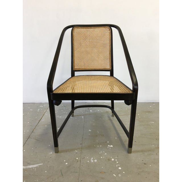 Beautiful Josef Hoffmann for Jacob and Josef Kohn bentwood chair, circa 1905. All new hand-caned seat and back. Chair is...