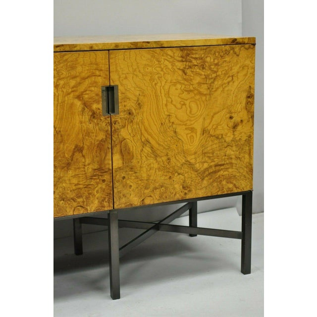 Yellow Roger Sprunger for Dunbar Burled Olivewood Credenza For Sale - Image 8 of 13