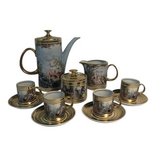 Loucart Brazilian Porcelain Tea Set For Sale