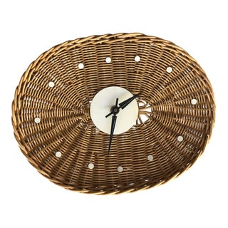 George Nelson for Howard Miller Mid Century Modern Basket Clock For Sale