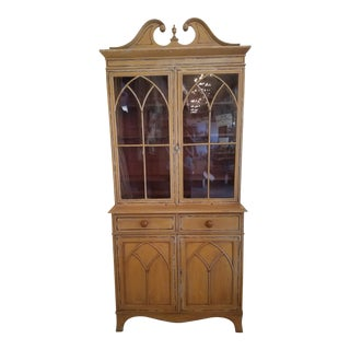 1880 Antique English Display Cabinet For Sale