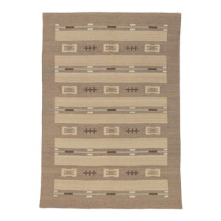 20th Century Finnish Flat Weave Rug- 8′1″ × 11′6″ For Sale