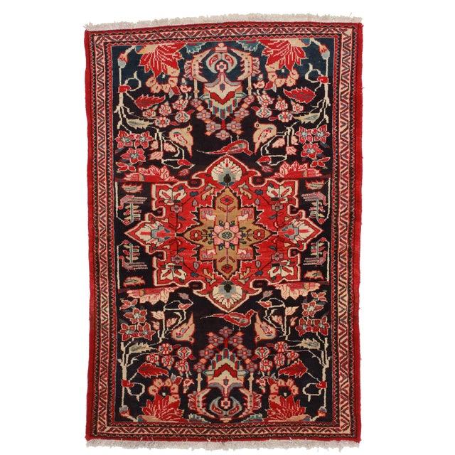"""Vintage Wool Persian Hamedan Area Rug - 4'3""""X6'5"""" - Image 1 of 2"""