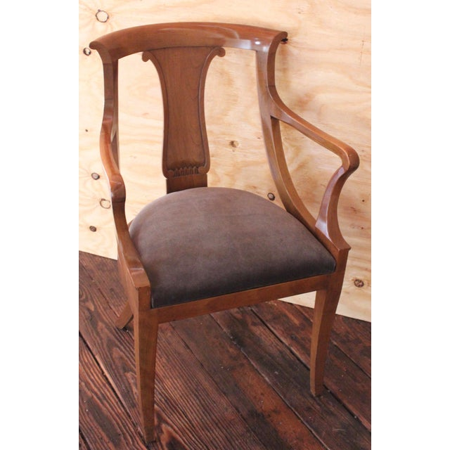 """Empire """"Chaise en Gondole"""" Fruitwood Baker Dining Chairs - Set of Four For Sale In Milwaukee - Image 6 of 8"""
