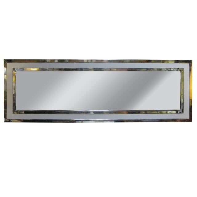 Large Nickel And Lacquer Mirror - Image 1 of 4