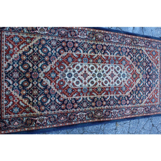 Figurative Early 20th Century Vintage Long Hallway Rug- 4′9″ × 2′1″ For Sale - Image 3 of 4