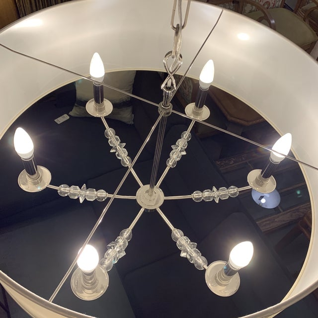 Crystorama 'Mirage' Drum Six-Light Pendant Chandelier For Sale In San Francisco - Image 6 of 13