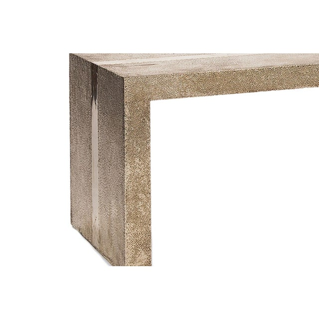 Stephanie Odegard Handmade Hammered White Bronze Bench For Sale - Image 4 of 8