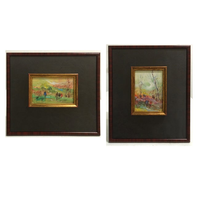 Framed Watercolor Paintings - A Pair - Image 1 of 7