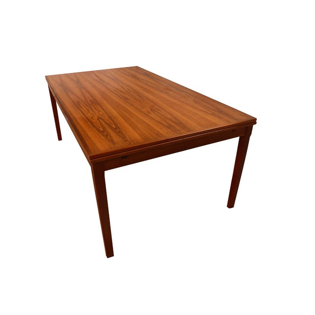 Danish Teak Extra Large Expanding Dining Table With 2 Leaves For Sale - Image 9 of 9