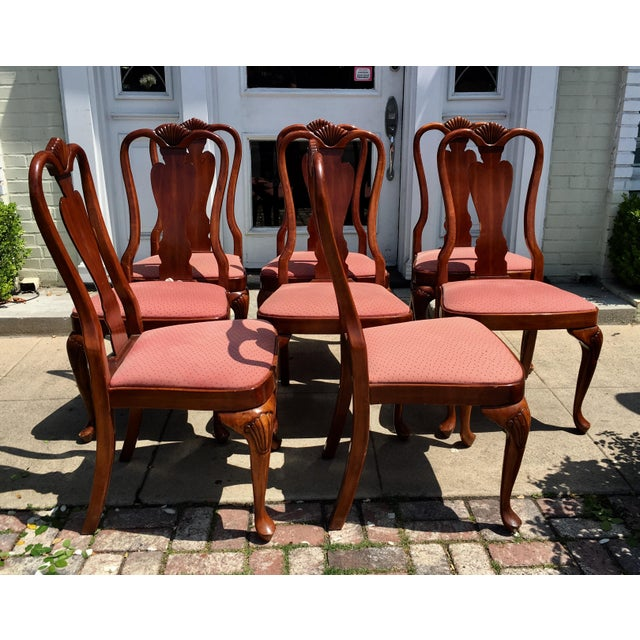 Queen Anne Style Mahogany Dining Chairs - Set of 8 - Image 4 of 7