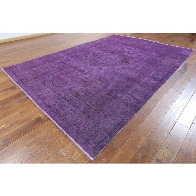 "Purple Overdyed Rug - 8'1 x 11'5"" - Image 3 of 6"
