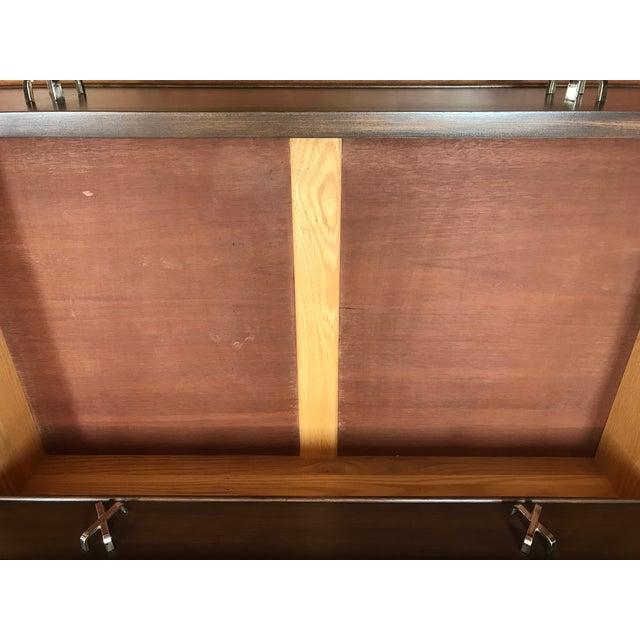 1950s MCM Paul Frankl 10-Drawer X Pull John Stuart Double Chest Dresser Walnut Finish For Sale - Image 9 of 12