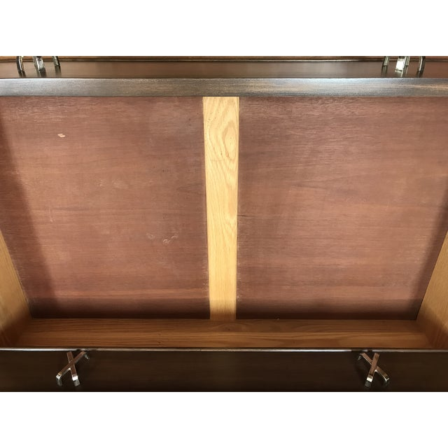 1950s Mid-Century Modern Paul Frankl 10-Drawer X Pull Double Chest Dresser For Sale - Image 9 of 12
