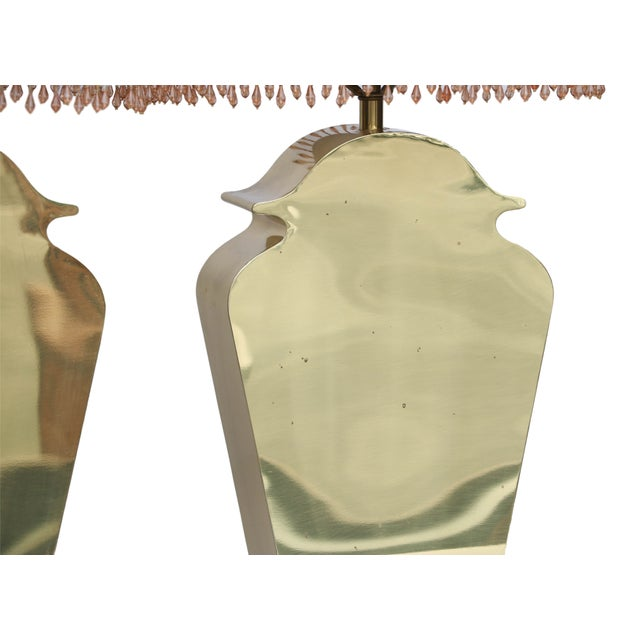 Mid-Century Chapman Brass Table Lamps - A Pair - Image 3 of 10