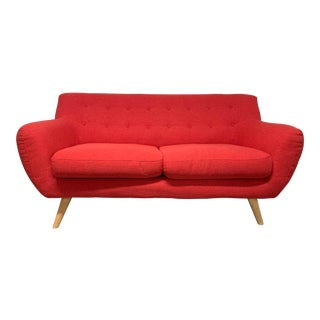 Mid-Century Style Loveseat For Sale