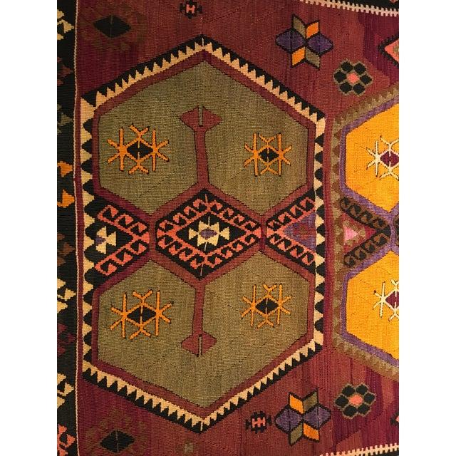 Vintage Turkish Kilim Rug- 5' x 12' - Image 4 of 10