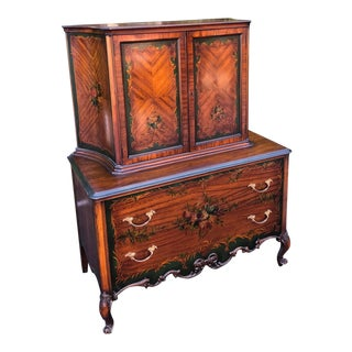 Antique Edwardian Angelica Kauffman Style Dresser Chest of Drawers For Sale