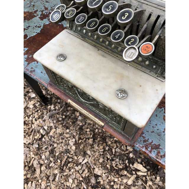 Mid 19th Century Nickel Coated Brass Antique Cash Register For Sale - Image 5 of 13