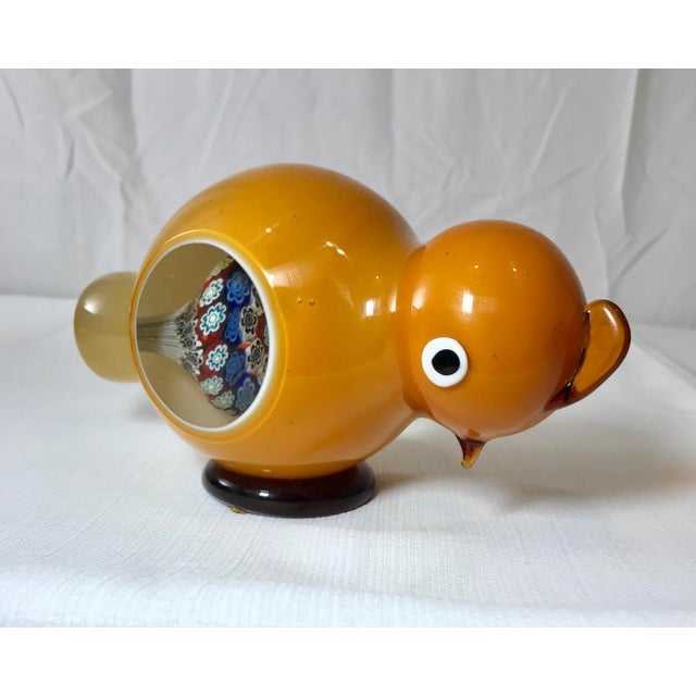 1970s Danish Modern Studio Art Glass Chicken Figurine For Sale - Image 13 of 13