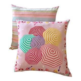 Ladurée Paris & Ralph Lauren Cotton Scarves Designer Pillow Set