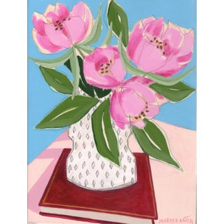"""Flowers and Books III"" Painting For Sale"