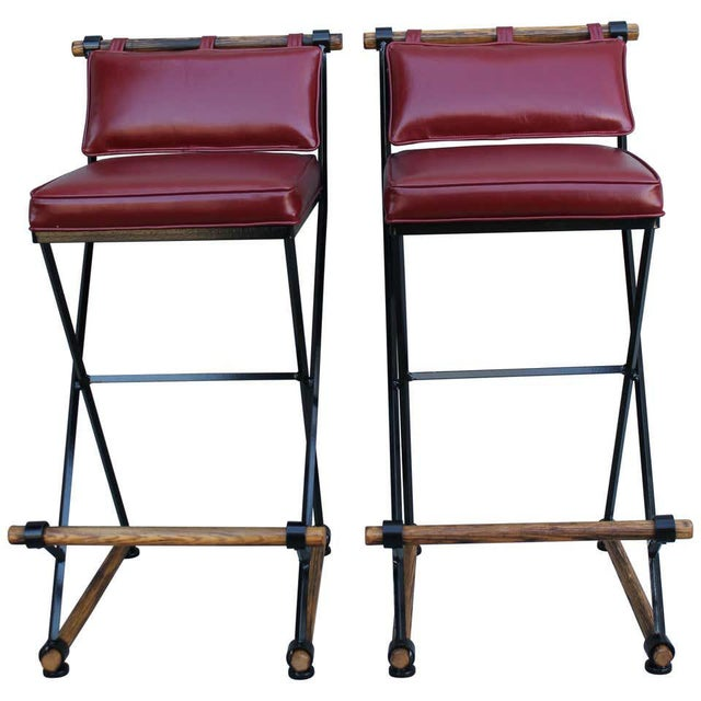 Cleo Baldon Style Bar Stools-a Pair For Sale - Image 9 of 9