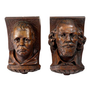 Antique Carved Wood Interior Architectural Corbels - a Pair For Sale