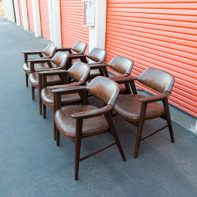 Mid Century Modern Paoli Walnut Armchairs - Set of 8 For Sale - Image 11 of 11