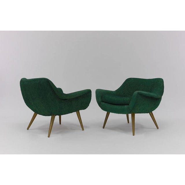 "Pair of Sculptural Lounge Chairs by Lawrence Peabody for Selig. from the ""holiday Collection"" Nicely Scaled, Very..."
